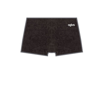 Hot Pant in Velours Crushed Velours Zwart (450) 3768 450