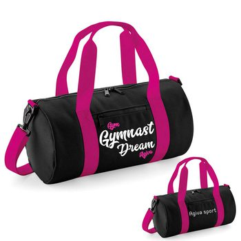 Original barrel bag black&fushia 9047NF